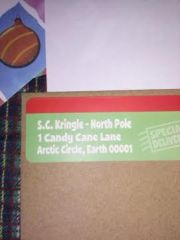 North Pole Return Address Label