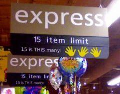 15 item limit