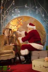santa with world Map