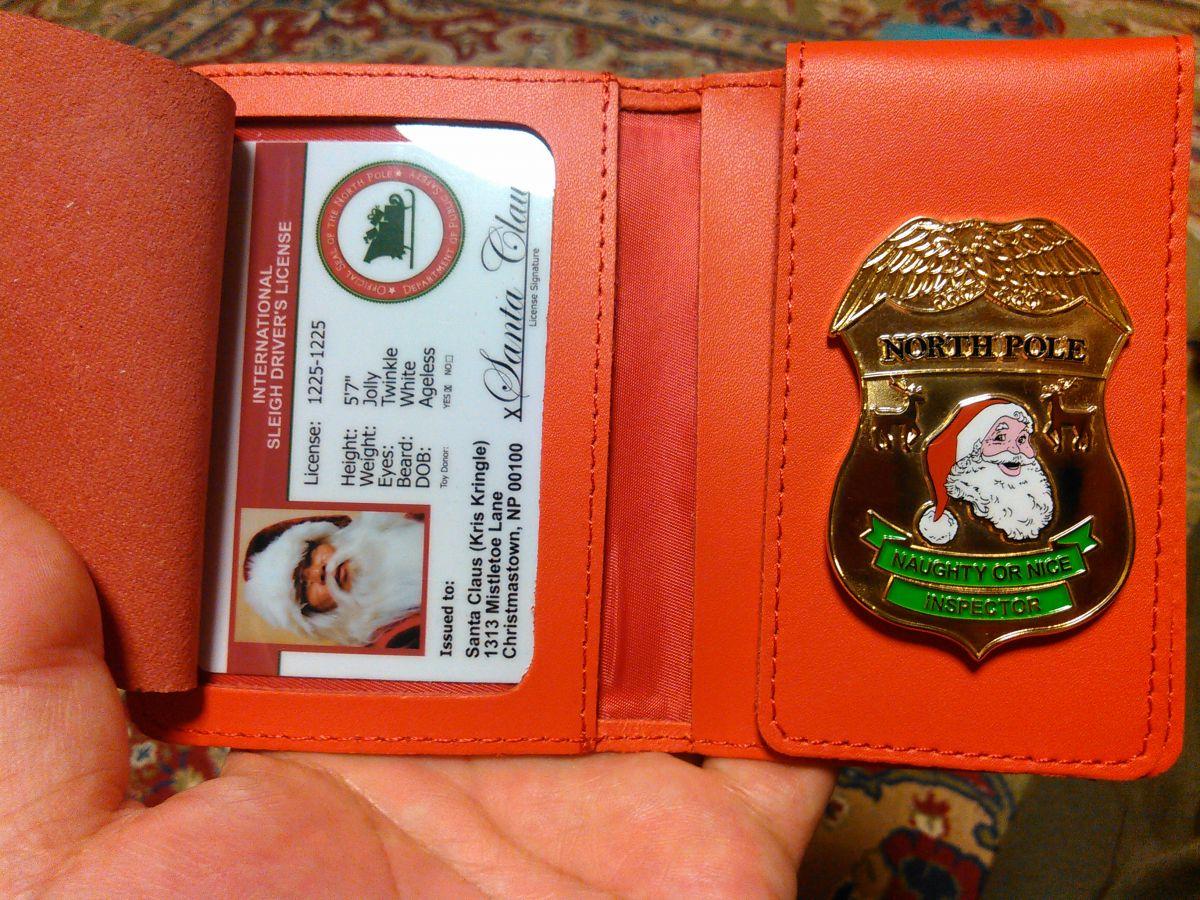 Nice naughty inspector badge wallet