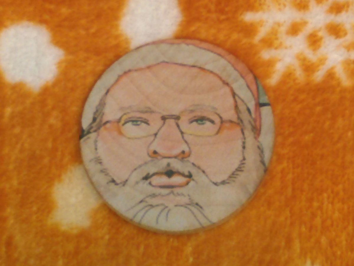 Santa coin front side