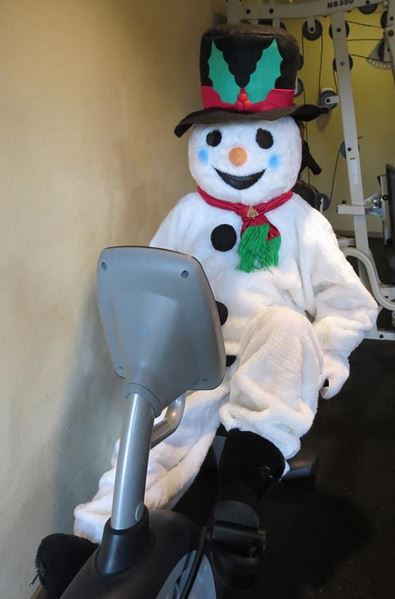 Frosty working Out