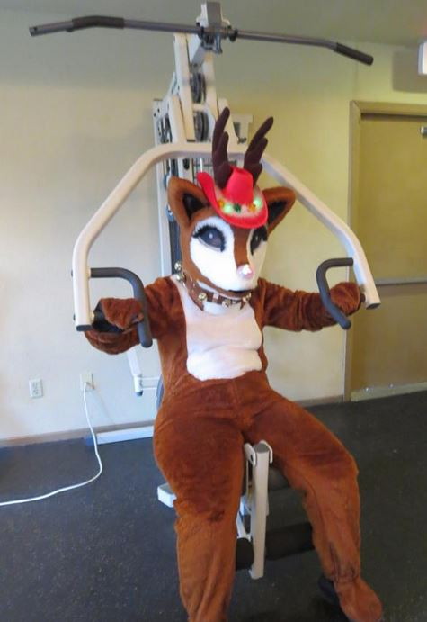 Rudolph working Out