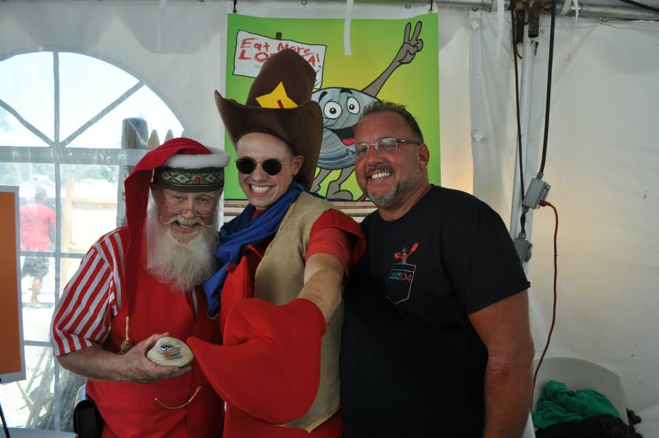 Cape Cod Santa,The Mascot from 104.9 FM and Ralphie Marino Radio Personalty.
