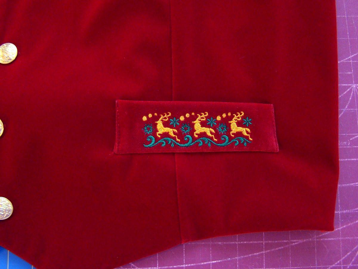 trever's vest pocket detail