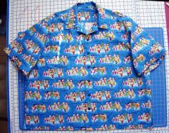 blue peanuts Haw shirt