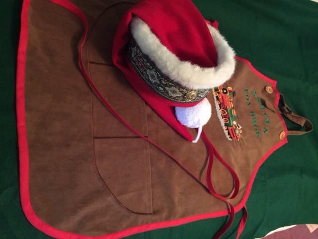 Santa's new hat and Toy Shop apron