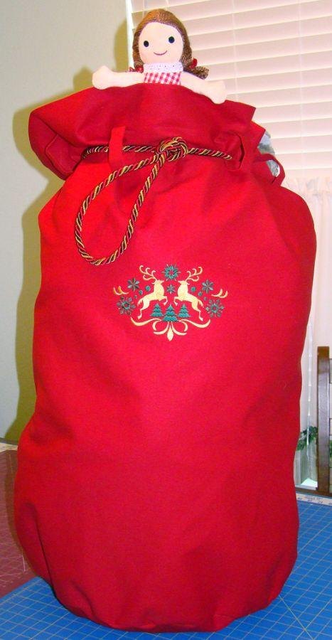 Red Canvas Toy Bag