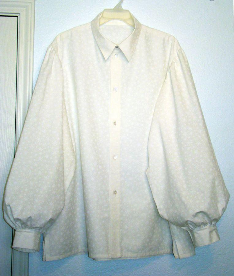 Button Front Puffy Shirt for Santa Oliver