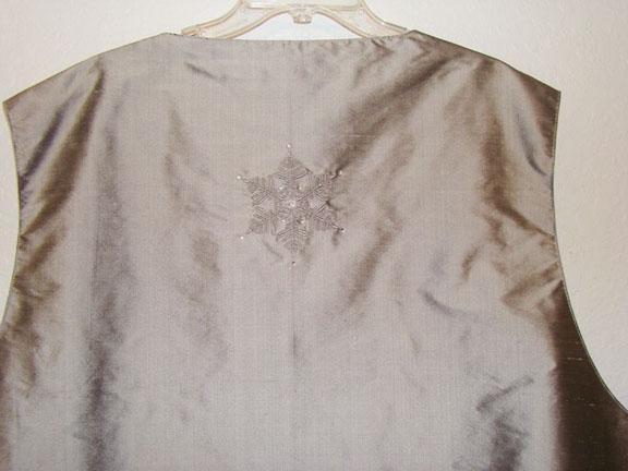 Vest back detail