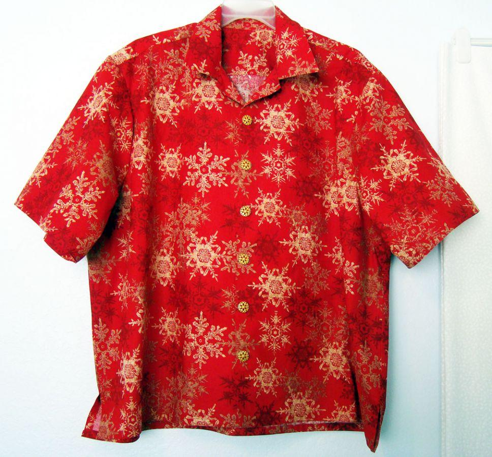 Hawaiian Shirt for a Santa in Las Vegas