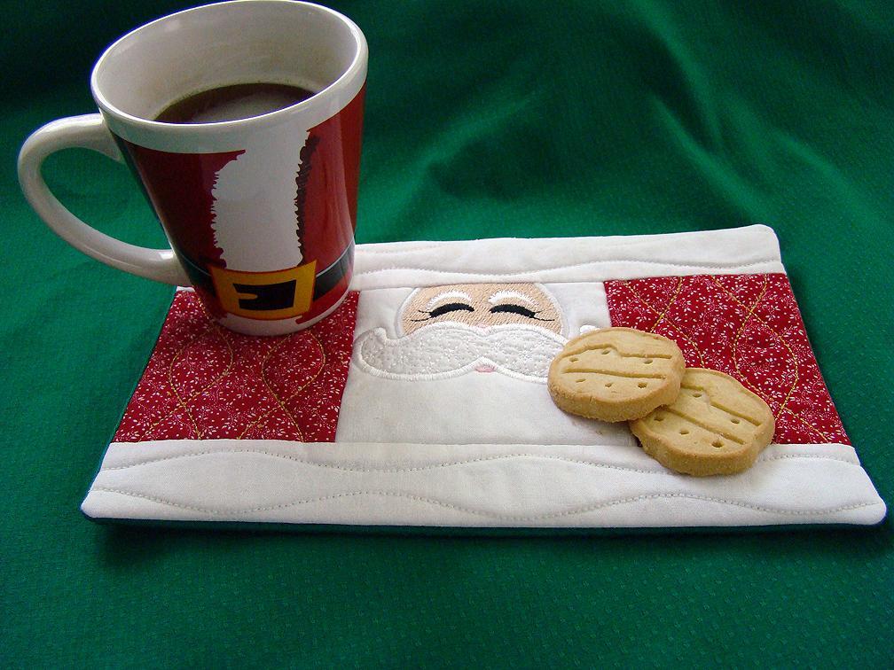Mug Rug santa face large