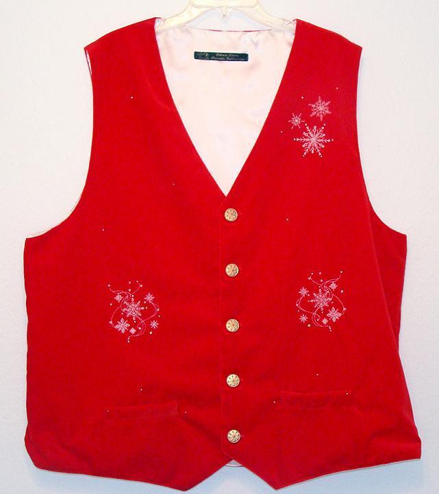 New velvet vest for a Santa...