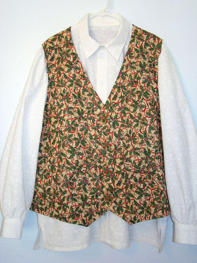Marty's Holly Ribbon Vest and 2nd shirt