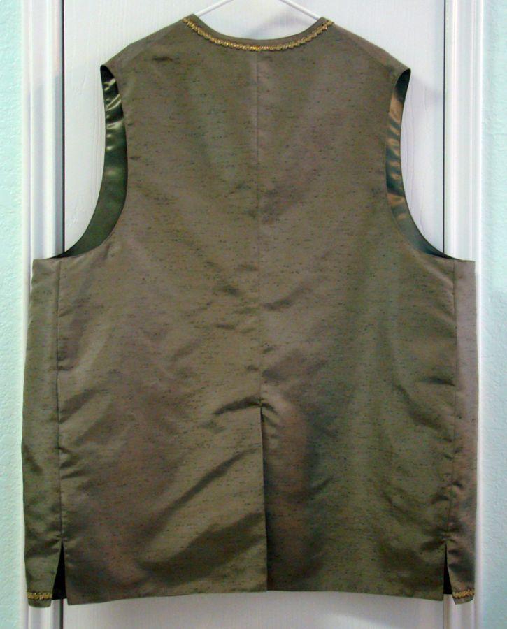 Santa Oliver's waistcoat, back view