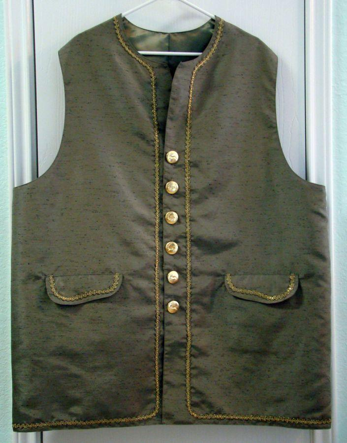 Santa Oliver's new long waistcoat