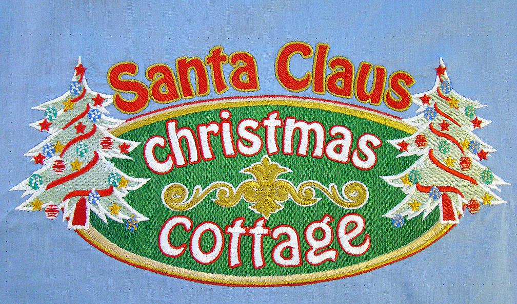 Santa Christopher's Christmas Cottage Logo
