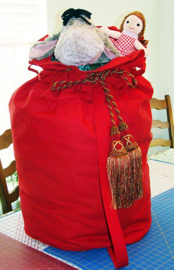 Toy Bag from Red Canvas for Santa Jimbo