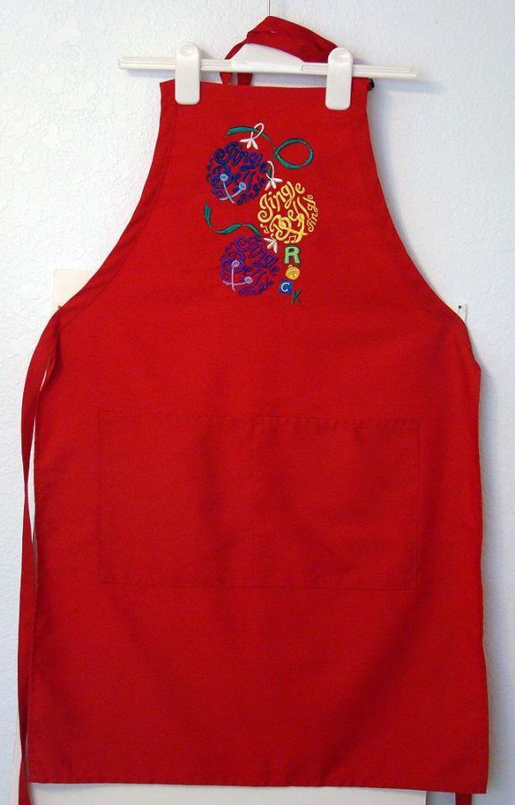 "Red ""Jingle Bell Rock"" Apron"