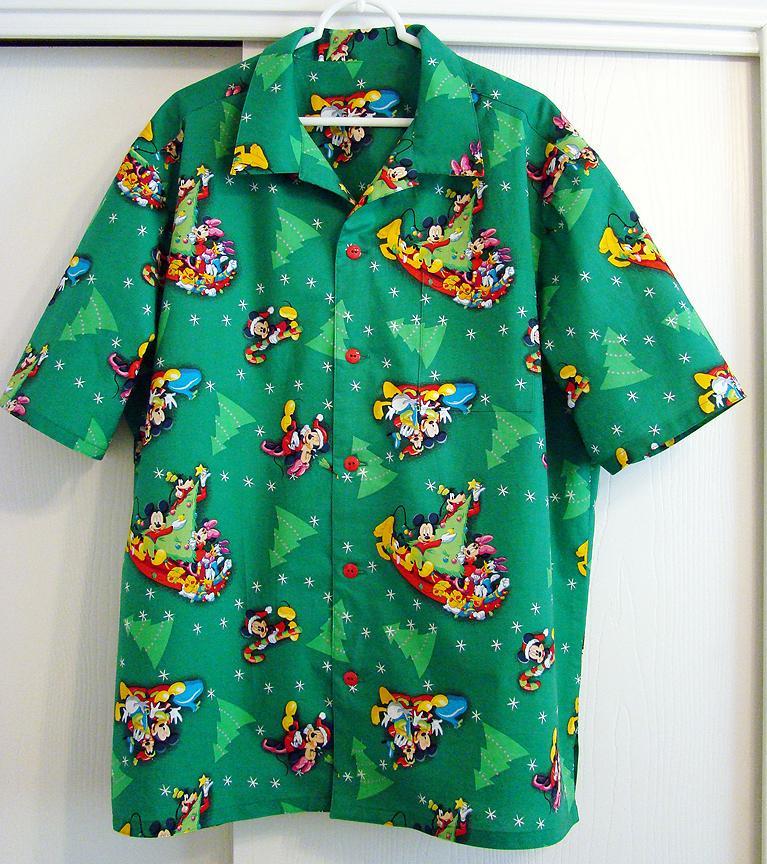 Mickey Mouse Hawaiian Christmas Shirt