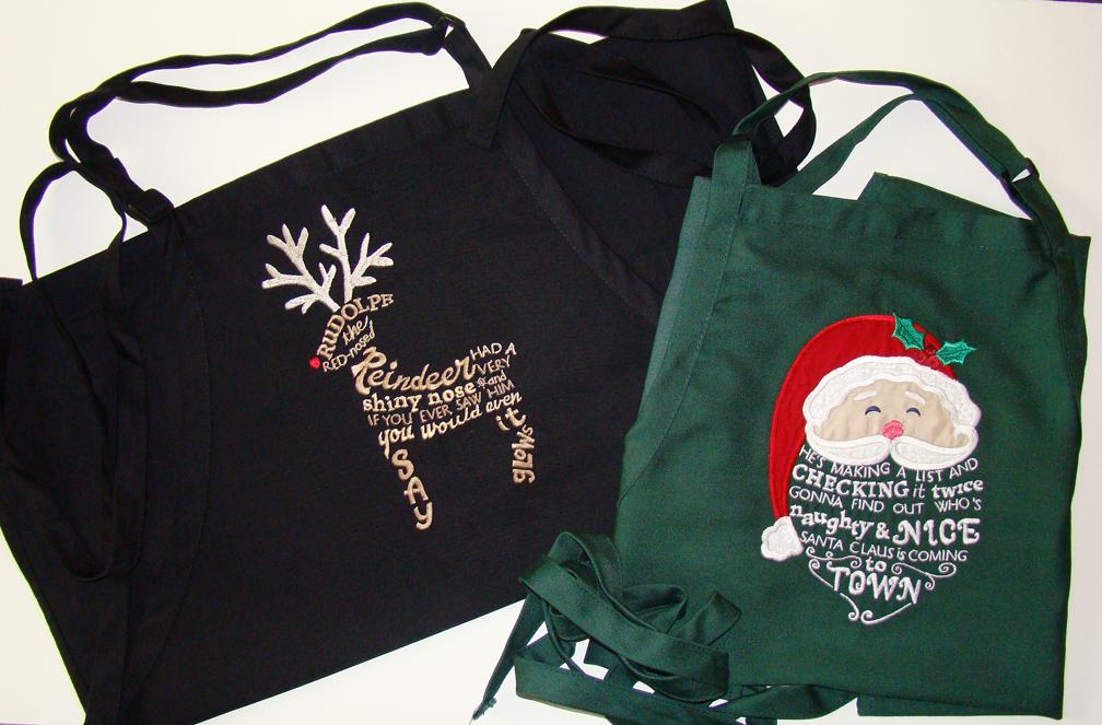 Apron Options for embroidery
