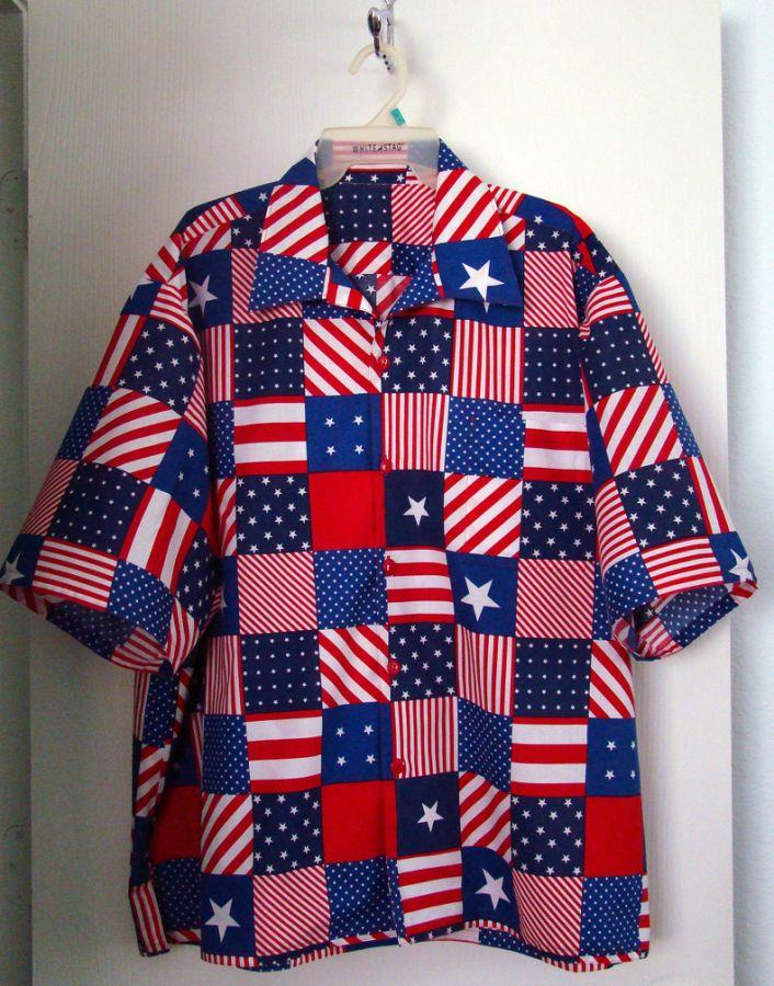 Patriotic Santa Hawaiian shirt