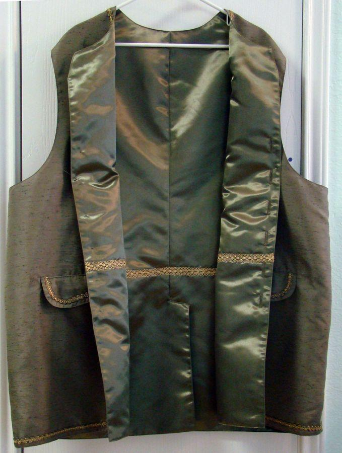 Waistcoat inside detail