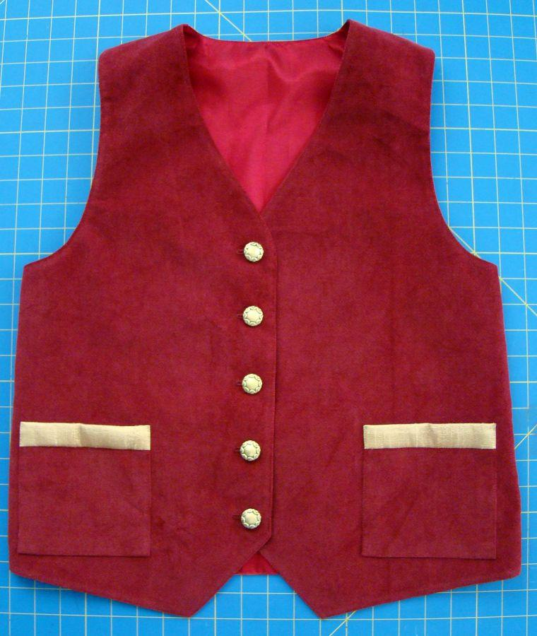 Lynnell's vest front