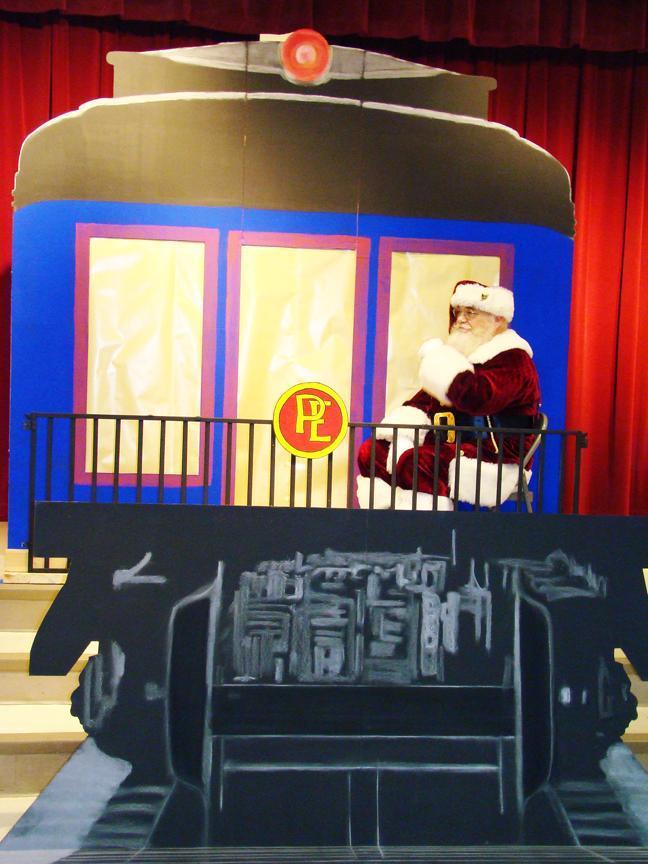A Polar Express event at a school in Kyle, Texas