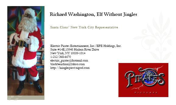 Elf Without Jingles business card option 2