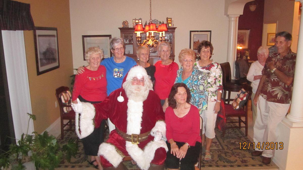 Santa visits long time believers