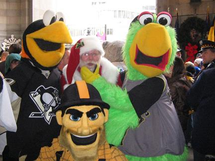 Me & All 3 Sports Mascots
