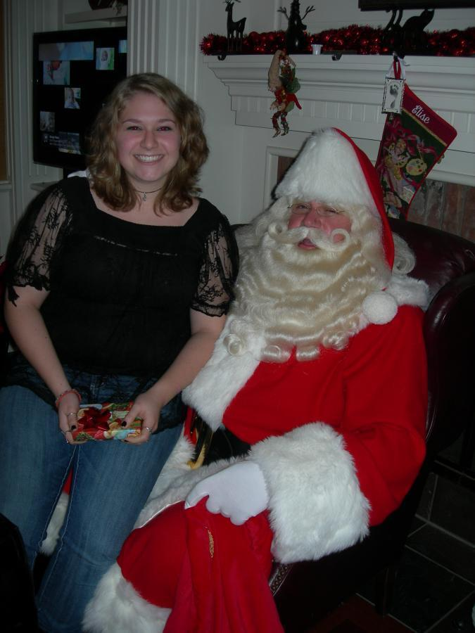 Santa Dave with his daughter