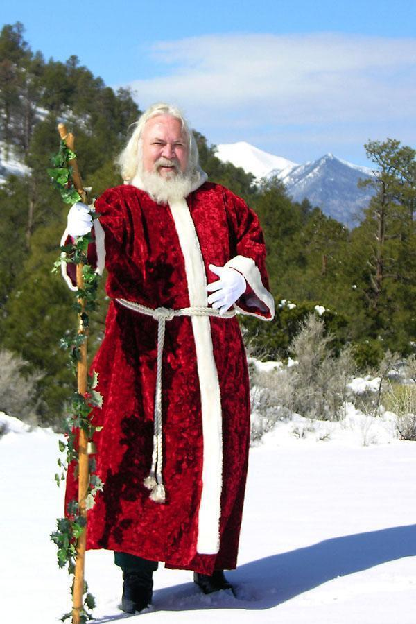 Santa in the mountains