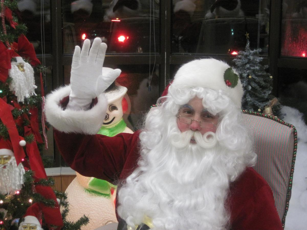 Santa at McDonalds
