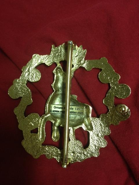 Prancing Buckle, view from back side