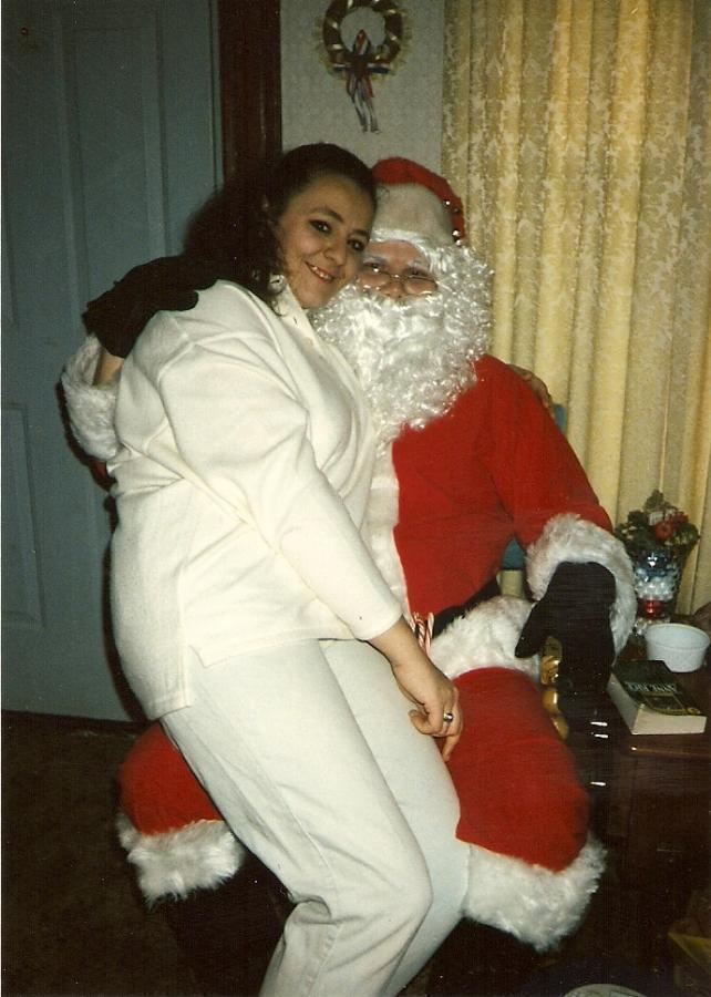 santa with mrs. claus