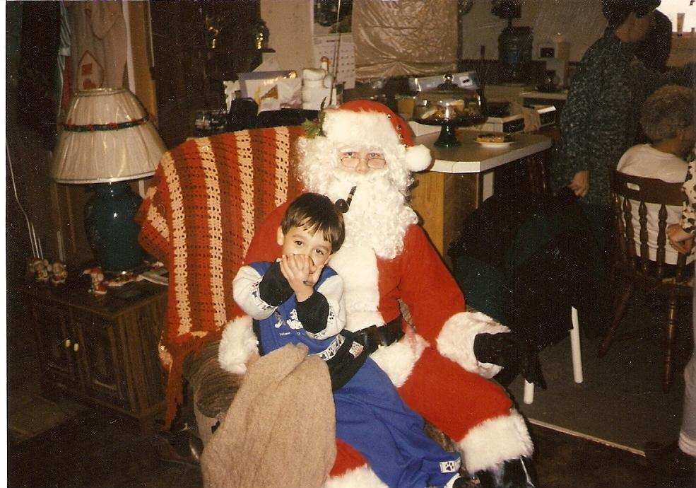 santa with child, adam irwin again