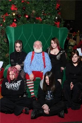 santa with the adam's family