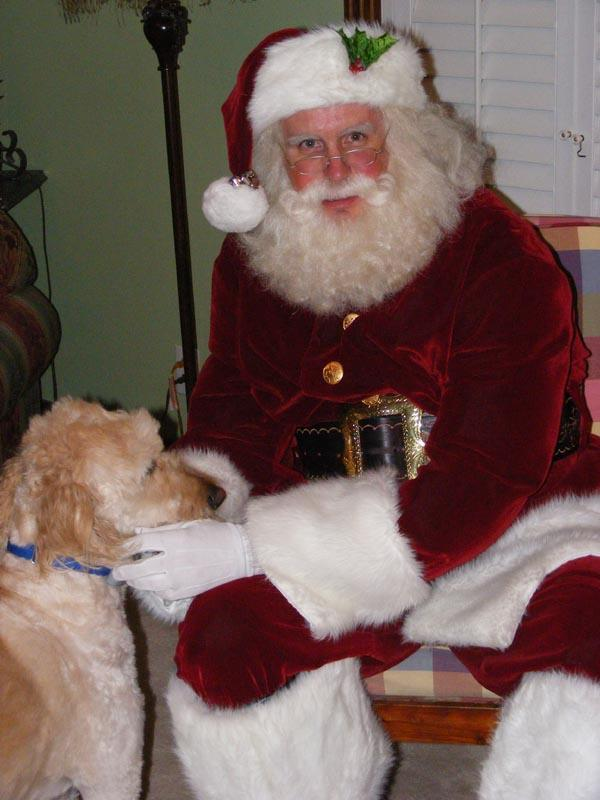 Santa and his pooch