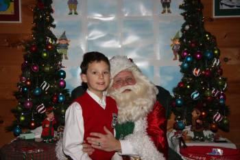 Charlie and Santa Claus - Kringleville 2010