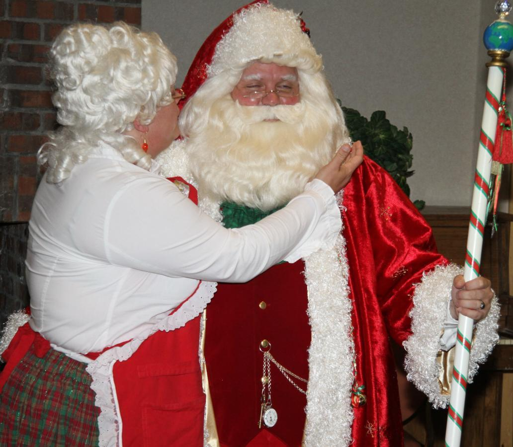 Giving Santa a Touch Up. 2010