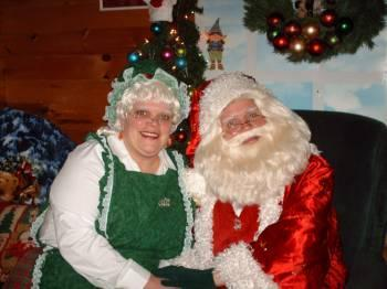 Mrs. Claus and Me Getting ready for our First Visitors of 2011