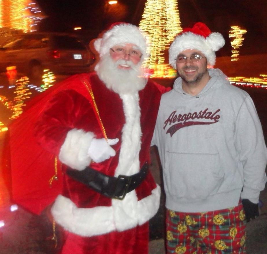 Santa Jay visiting the Lights