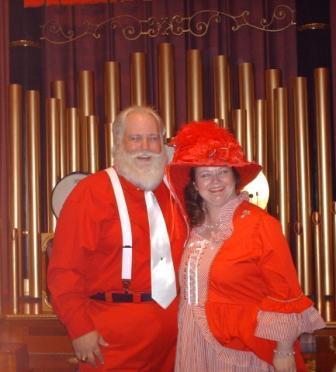 Santa Barry and Lesa Claus