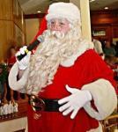 Singing Satna Claus loves to sing