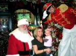 Santa & Toy Soldier with mom and daughter