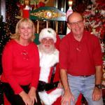 Santa & owners of Decorator's Warehouse