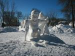fun snow scupltures