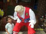 Ronald, the children and Santa